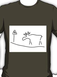 elk Sweden Norway warning T-Shirt