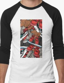 yeezy dog Men's Baseball ¾ T-Shirt