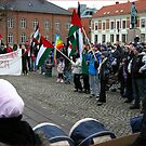 From todays demonstratin aganist Isreaels terrorbombing in Gaza by Rudschinat