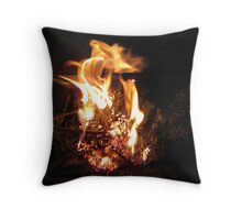 Curvature Of Fire Throw Pillow