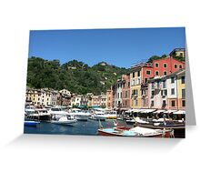 BOATS IN THE HARBOUR -  PORTOFINO -ITALY Greeting Card