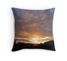 Sunset Skies Above Throw Pillow
