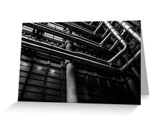 Industrial Pipes Greeting Card