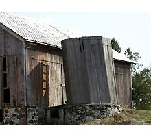 Old Wooden Silo Photographic Print