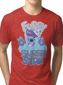 FURRY SUPERSTAR - color Tri-blend T-Shirt