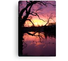 Silhouetted Sunrise Canvas Print