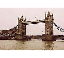 Sepia Tower Bridge Photographic Print