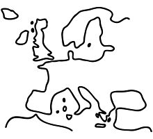 Europe the European Union map by lineamentum