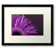 frilly flower Framed Print