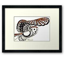 Ollie: A young barn owl Framed Print