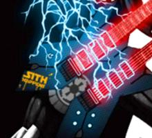 Darth Vader rocks da force! Sticker