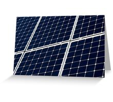 Solar power panel Greeting Card