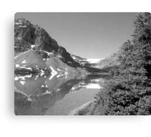 Bow Lake & Glacier Canvas Print
