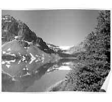 Bow Lake & Glacier Poster