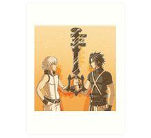 Kingdom Hearts Keyblade Masters Riku Terra Art Print