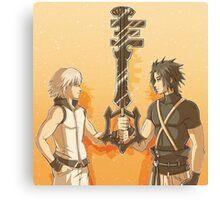 Kingdom Hearts Keyblade Masters Riku Terra Canvas Print