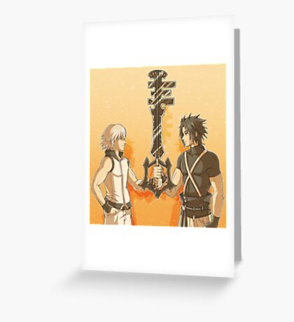 Kingdom Hearts Keyblade Masters Riku Terra Greeting Card