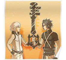 Kingdom Hearts Keyblade Masters Riku Terra Poster