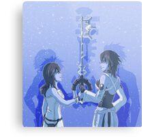 Kingdom Hearts Keyblade Masters Kairi Aqua Metal Print
