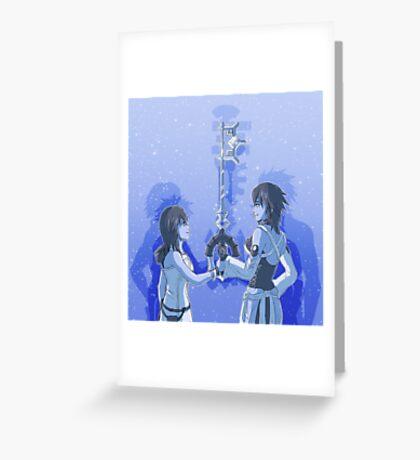 Kingdom Hearts Keyblade Masters Kairi Aqua Greeting Card