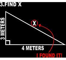 Find x Funny Geek Nerd Photographic Print