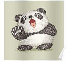 Surprized Panda Poster