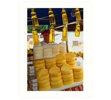 Honey and Cheese Art Print