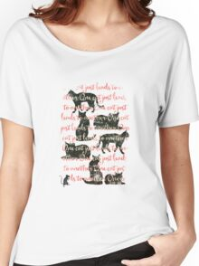 one cat just leads to another Women's Relaxed Fit T-Shirt