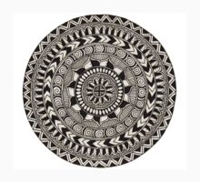 Black and White Hypnotizing Mandala by elfinelines