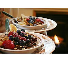 Oatmeal with Fruit and Walnuts Photographic Print