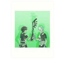 Kingdom Hearts Keyblade Masters Sora Ventus Art Print