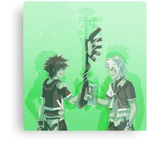 Kingdom Hearts Keyblade Masters Sora Ventus Metal Print