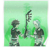 Kingdom Hearts Keyblade Masters Sora Ventus Poster