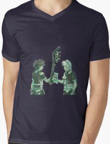 Kingdom Hearts Keyblade Masters Sora Ventus Mens V-Neck T-Shirt