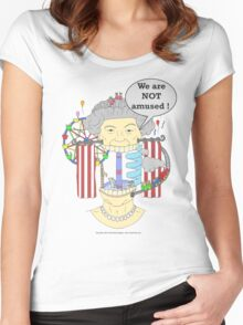We are NOT amused ! Women's Fitted Scoop T-Shirt