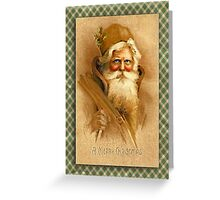 Old World Santa Greeting Card