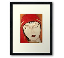 Fortuna Beautiful Mysterious Gypsy Woman Painting Framed Print
