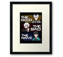 GOOD, BAD AND NAIVE KANEKI - Colour Framed Print
