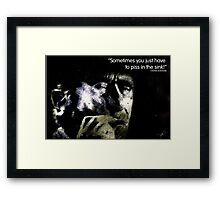 Bukowski 'Sometimes you just have to piss in the sink!' Framed Print