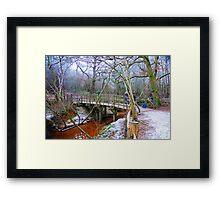 Poohsticks Bridge Framed Print