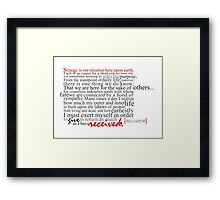 Our Situation Framed Print