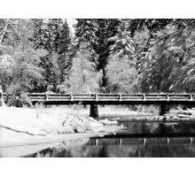 Bridge Over Icy Waters Photographic Print