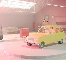 Yellow Automobile by Nestor Ramos