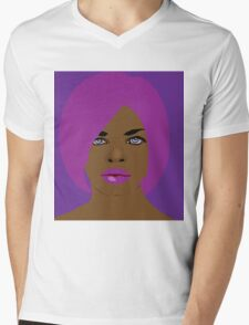 She likes purple and pink Mens V-Neck T-Shirt