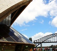 Opera House & Sydney Harbour Bridge..  by Sam  Parsons