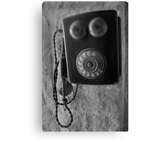 Old phone Canvas Print