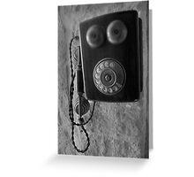 Old phone Greeting Card