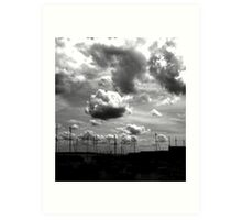 clouds and masts Art Print