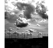 clouds and masts Photographic Print
