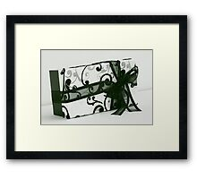 box and bow Framed Print